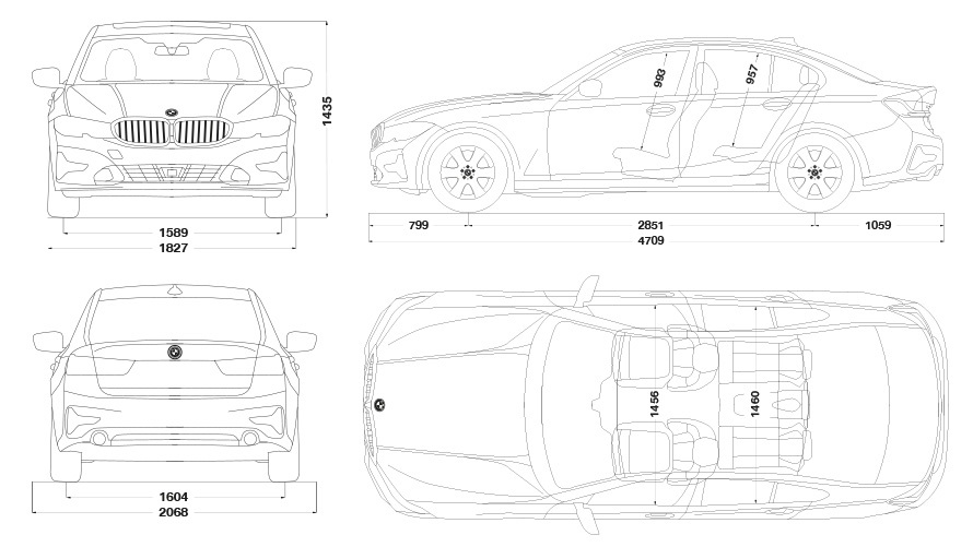 Technische Daten BMW 3er Limousine