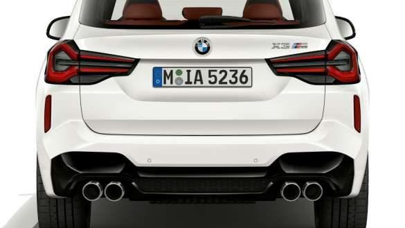 BMW X3 M F97 LCI Facelift 2021 Alpinweiß Heckansicht