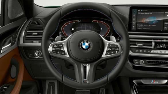 BMW X3 M40i M40d G01 LCI Facelift 2021 Variable Sportlenkung Cockpit M Lederlenkrad