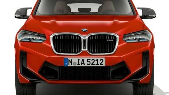 BMW X4 M F98 LCI Facelift 2021 Toronto Rot metallic Frontdesign Frontansicht