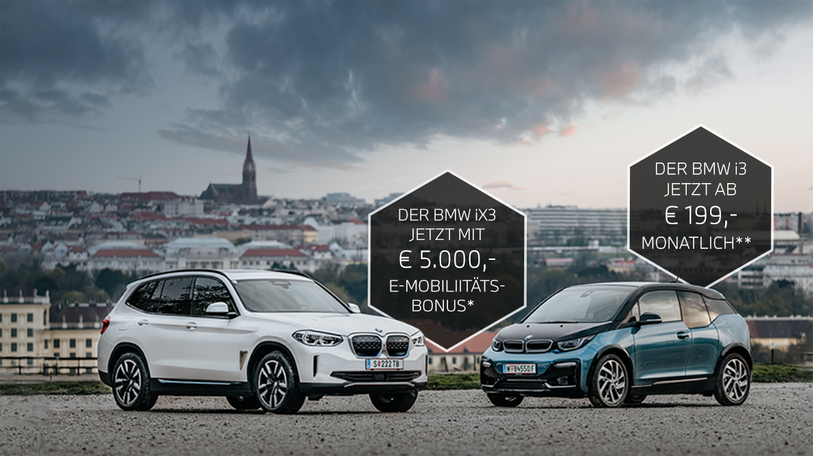 Der BMW iX3 jetzt mit € 5.000,- E-Mobilitätsbonus*